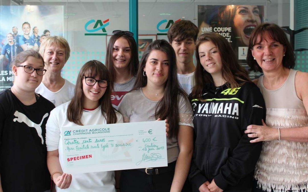Un don de 400 € pour le déplacement solidaire  au Maroc des lycéens